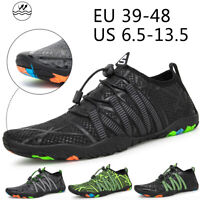 Men Beach Sandals Quick Dry Water Shoes Rubber Sneakers Upstream Diving Slippers