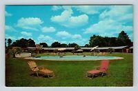 Georgia View of Palms Court Motel, AAA, Pool, Waycross GA, Postcard