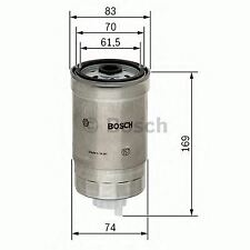 ENGINE FUEL FILTER OE QUALITY REPLACEMENT BOSCH 1457434198