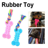 New Dog Pet Safety Chew Toys Bite-Resistant Puppy Durable Rubber Dental Teeth ##