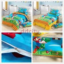 Super Mario Bros Mario Yoshi Goomba Bedding Duvet Cover Pillowcases Twin 3pcs