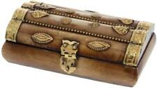 SandT Collection Treasure Chest Gold Embellishments Trinket Jewelry Box