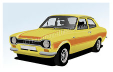 Ford Escort Mk1 Rs2000 Rs 2000 Sport Nevera Imán Amarillo