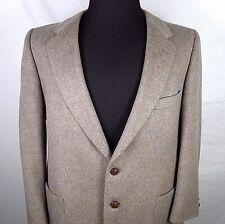 Lanvin Mens Sport Coat Blazer Size 42 R Two Button Vintage Feather Suede USA