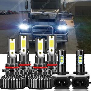 For Freightliner Coronado 2013-2018  9005 9006 LED Headlight 881 Fog Lights Bulb