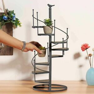 Metal Iron Plant Rack Stand Plants Shelf 8 Tiers layer Stair Flower Plant Stand
