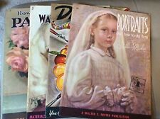 Lot Of 4 Walter Foster Art Books - Pastels,Water Colors,Drawing,Portraits
