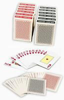 Value Pack 12 Decks Paper Playing Cards with Plastic Coating Poker Size Jumbo