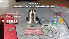 14mm MAGNETIC CRANKCASE OIL DRAIN PLUG 07-18 YAMAHA STRYKER V STAR 1300 XVS1300