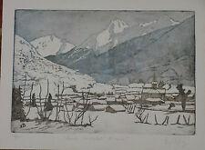 Eau Forte Nicole Beluy Vallée d'Ossau Pyrénées