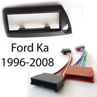 Radioblende Set für Ford KA 1996-2008 schwarz ISO Adapter Kabel Stecker