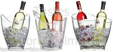 Bar Craft Clear Acrylic Party Wine Bottle Cooler / Drinks Pail / Ice Bucket