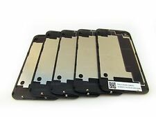 LOT OF 5x NEW BLACK iPHONE 4S A1387 BACK GLASS REAR DOOR BATTERY COVER OEM USA