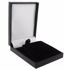 10 pack Luxury Black Leatherette Postal Pendant Earring Box Jewellery Display
