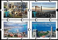 TURKEY 2017, PERMANENT POSTAL STAMPS WITH THE THEME OF TOURISM, ANTALYA, MNH