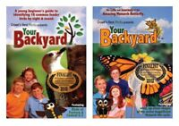 NEW Your Backyard Set of 2 DVD Monarch Butterfly 18 Feeder Birds Documentary