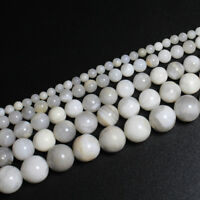 Wholesale White Agate Stone Stripe Natural Stone Loose Beads Jewelry Bracelet