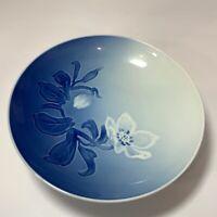 Footed Bowl Bing & Grondahl B&G Kjobenhavn Denmark  Blue Floral Porcelain