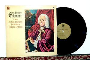 Telemann, Musical Offering Baroque Ensemble, 300th Birthday Celebration, 1981 NM