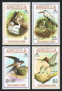 Anguilla 398-401,401a,hinged.Michel 396-399,Bl.34. Birds 1980.Pelican,Swallow