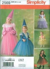 Simplicity Sewing Pattern 2569 Storybook Halloween Costumes Toddler Size 1/2 - 3