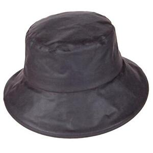 British Waxed Cotton Ladies Bucket Hat Waterproof Fully Lined ZH224