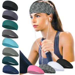 Headbands Sports Gym Yoga Pilates Fitness Running Sweatband Hair Wrap Head Band