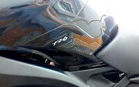 Adesivi laterali serbatoio in resina 3D per moto compatibili Yamaha FZ6 FAZER