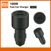 New Xiaomi Car Charger 100W 5V 3A Dual USB Fast Charge For iPhone Samsung Huawei