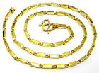 """Classic Bar-link 24k Gold Plated Thai Baht Chain Necklace Jewellery Jewelry 20"""""""