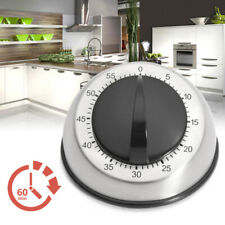 Stainless Steel Kitchen Timer Mechanical Cooking Timer Manual Countdown Timer