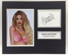 RARE Bianca Gascoigne Glamour Model Signed Photo Display + COA AUTOGRAPH