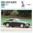 Aston Martin DB 2/4 6 Cyl. 2+2 1953-1955 GB/UK CAR VOITURE CARTE CARD FICHE