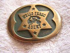 Vintage Wells Fargo Agent Belt Buckle 1977