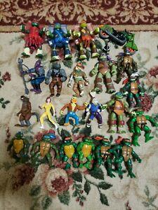 Vintage Teenage Mutant Ninja Turtles Action Figures Lot - FOOT ACE RAT USAGI +++
