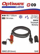 Optimate SAE09 12V DIN Plug Lead - 1.2m (09) UK Supplier & Warranty NEW
