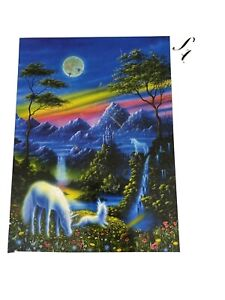 New RoseArt 750 Pc Jigsaw The Puzzle Collection Land Of The Unicorn Waterfall