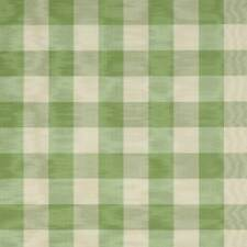 COLEFAX & FOWLER FRENCH COUNTRY CHECKS MOIRE FABRIC 10 YARDS SAGE CREAM