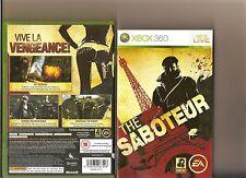 SABOTEUR XBOX 360 / X BOX 360 STEALTH GAME