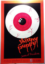 SKINNY PUPPY/FILLMORE #54/1988 NEVER ROLLED/CONCERT POSTER/SAN FRANCISCO