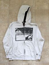 Vintage Quicksilver Zip up Hoodie Big Logo Surfer Medium