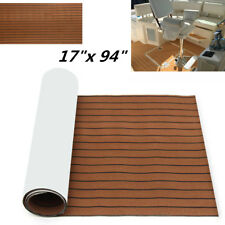 Non-skid EVA Foam Faux Teak Sheets Floor Mat For Car Boat Marine Self-Adhesive