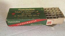 Remington Targetmaster 45 Automatic Ammunition Box ~ Empty Box ~ 56 Year Coll.