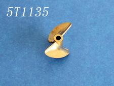 2 blade Copper propeller prop 4mm diameter 35mm p1.4 for rc boat