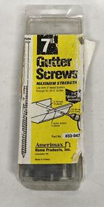 "(BOX OF 10) Amerimax Square Drive 7"" WHITE Gutter Screw w Ferrule Metal"