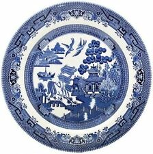 Unboxed Willow Pattern Transfer Ware Pottery Dinner Plates