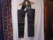 leather chaps 3xs braided sides