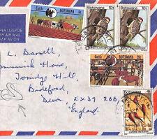 BR215 1981 BOTSWANA *Selebi-Phikwe* Commercial EXPRESS Airmail Cover BIRDS