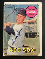 Dalton Jones Red Sox signed 1969 Topps baseball card #457 Auto Autograph