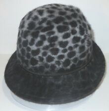 New Kangol Womens Animal Print Angora Cloche Cap Hat Small